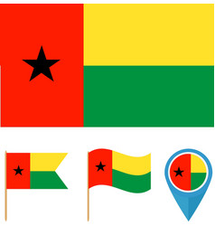 Guinea-Bissaucountry flag vector image
