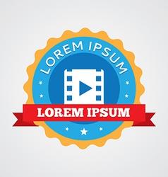 media vintage badge label icon vector image