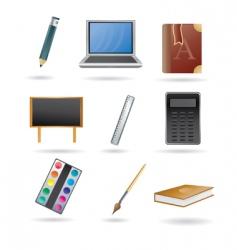 school and education icon set vector image vector image
