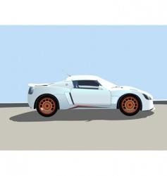 sport car illustration vector image vector image