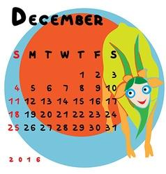 2016 december capricorn vector