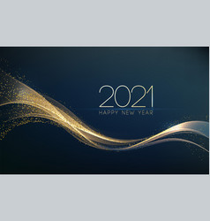 2021 new year abstract shiny color gold wave vector