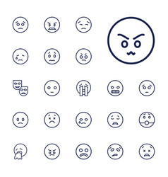 22 sad icons vector