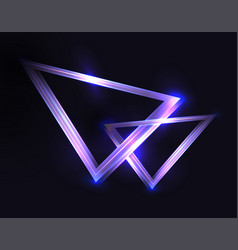abstract background with neon triangles and vector image