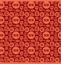 advertising seamless pattern vector image