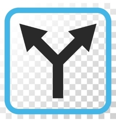 Bifurcation Arrow Up Icon In a Frame vector