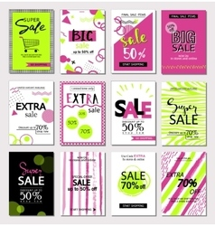 Big Set of social media sale website and mobile vector