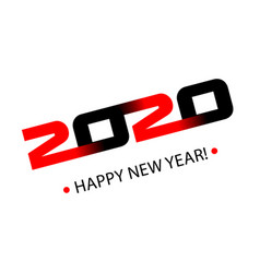 black and red symbols 2020 happy new year vector image
