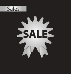 Black and white style icon sale vector