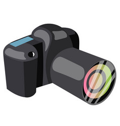 Black professional camera vector