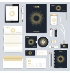 Black set of corporate identity template vector