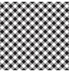 Black white checkerboard check diagonal fabric vector
