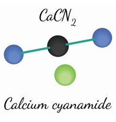 Calcium cyanamide CaCN2 molecule vector image