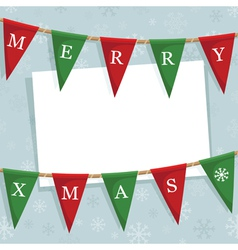 christmas bunting decoration vector image