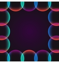 circle abstract vibrant border vector image