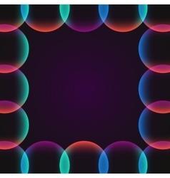 circle abstract vibrant border vector image vector image