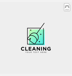 Cleaning service logo template icon element vector