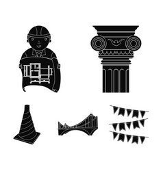 Column master with drawing bridge index cone vector