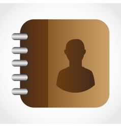 contacts book design vector image
