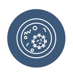 Coronavirus and cell icon block style vector