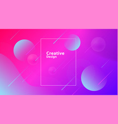 creative geometric shapes wallpaper trendy vector image