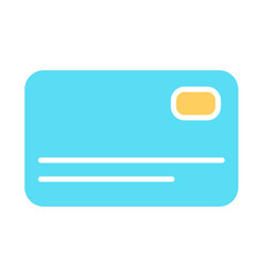 credit card silhouette icon simple pictogram vector image