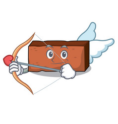 cupid brick character cartoon style vector image