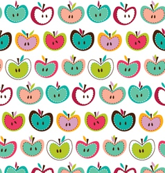 Cute-seamless-apple-pattern vector image
