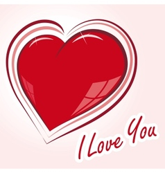 declaration of love vector image