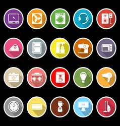 Electrical machine icons with long shadow vector image