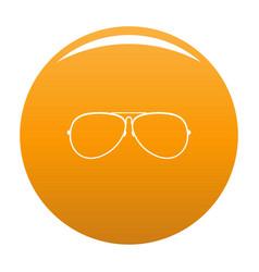 Eyewear icon orange vector
