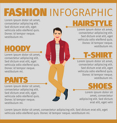 Fashion infographic with happy student vector