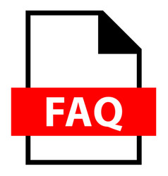 File name extension faq type vector