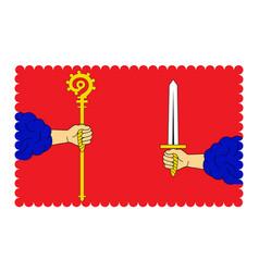 Flag of haute-loire in auvergne-rhone-alpes vector