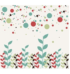 Floral and bubbles background vector image