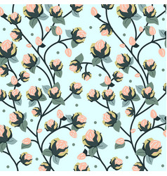 Floral pattern flat vector