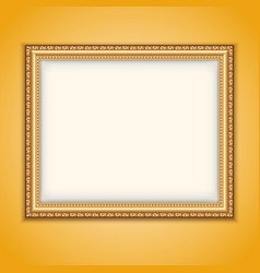 Frame gold vector