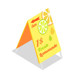 Fresh lemonade advertisement banner directory vector