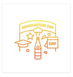 Graduation day gradient icon vector