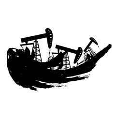 Grunge Oil Pump vector