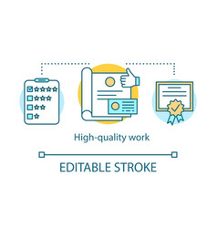 High-quality work concept icon vector