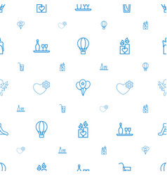 Holiday icons pattern seamless white background vector