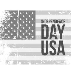 Independence day usa text on grunge flag vector