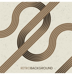 intersection retro lines vector image