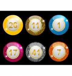 Lottery disco balls vector