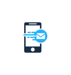 Mail mobile logo icon design vector