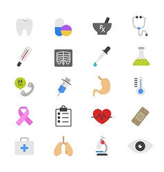 Medical and Healthcare Flat Color Icons vector