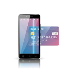 mobile bank smartphone business vector image