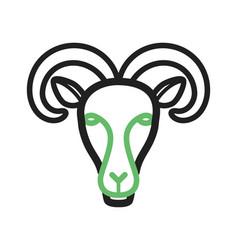 Moutain goat face vector