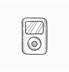 MP3 player sketch icon vector image